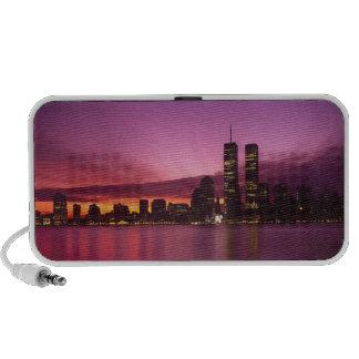 Manhattan Skyline and Hudson River, New York, Portable Speaker