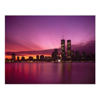 Manhattan Skyline and Hudson River, New York, Postcard