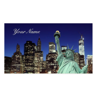Manhattan Skyline and The Statue of Liberty Business Card Templates
