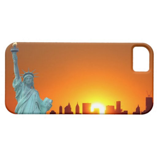Manhattan Skyline and The Statue of Liberty iPhone 5 Covers