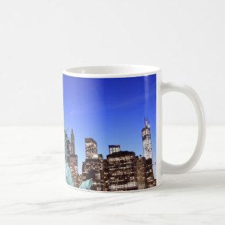 Manhattan Skyline and The Statue of Liberty Coffee Mug