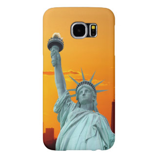 Manhattan Skyline and The Statue of Liberty Samsung Galaxy S6 Case