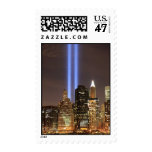 Manhattan Skyline and the Towers Of Light Postage Stamp