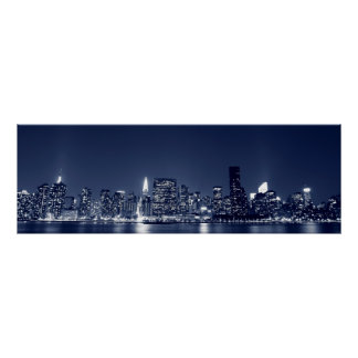 Manhattan Skyline and the Towers Of Lights Poster