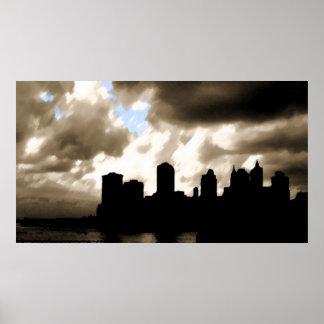 Manhattan Skyline Art Posters
