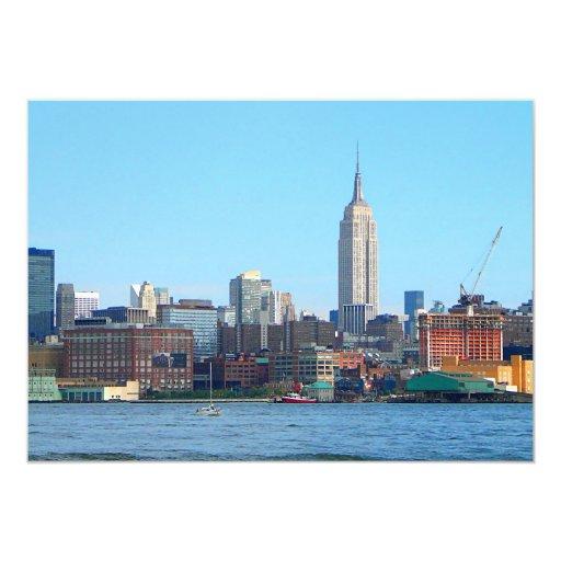 Manhattan Skyline as Seen From Hoboken, NJ Card