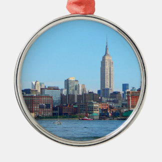 Manhattan Skyline as Seen From Hoboken, NJ Metal Ornament