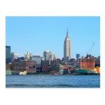 Manhattan Skyline as Seen From Hoboken, NJ Postcard