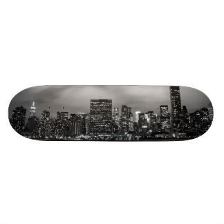 Manhattan Skyline at Night Skateboard Deck