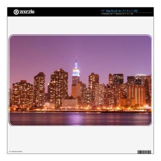 Manhattan Skyline At Night MacBook Decal