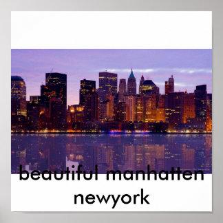Manhattan skyline, beautiful manhatten newyork poster