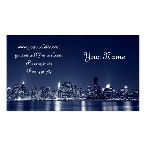 Manhattan Skyline, New York City Business Card Template