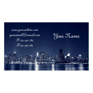 Manhattan Skyline, New York City Double-Sided Standard Business Cards (Pack Of 100)