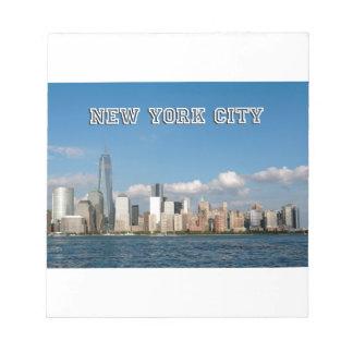 Manhattan Skyline New York City USA Note Pad