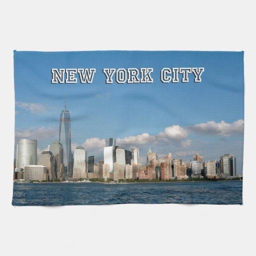 Manhattan Skyline New York City USA Towels