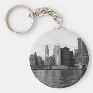 Manhattan Skyline New York Keychain