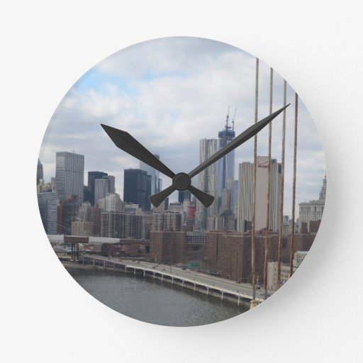 Manhattan skyline New York Wallclocks