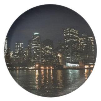 Manhattan Skyline Plate