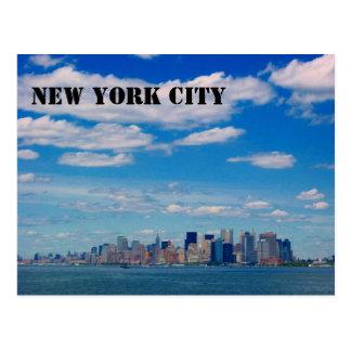 manhattan skyline postcard