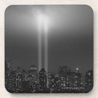 Manhattan skyline with 9/11, New York City Drink Coaster