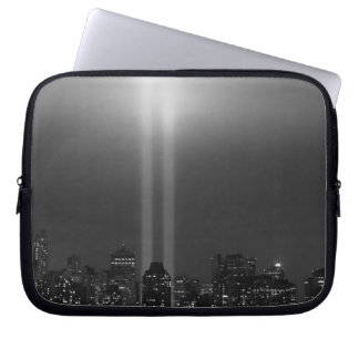 Manhattan skyline with 9/11, New York City Laptop Computer Sleeves