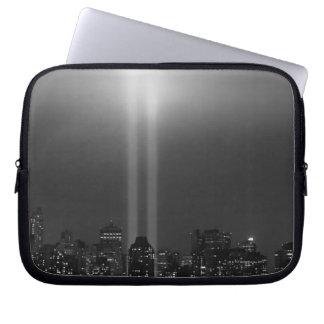 Manhattan skyline with 9/11, New York City Computer Sleeve