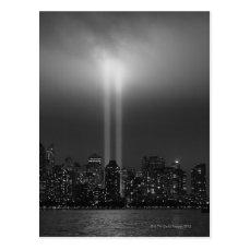 Manhattan skyline with 9/11, New York City Postcard