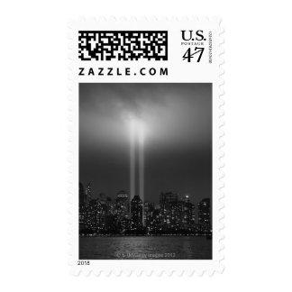 Manhattan skyline with 9/11, New York City Stamp