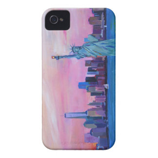 Manhattan Skyline with Statue of Liberty iPhone 4 Covers