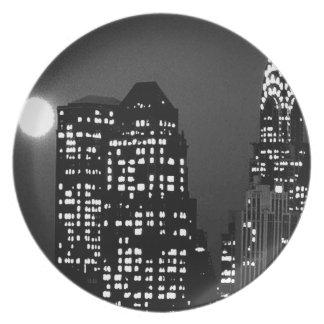 Manhattan Skylines Dinner Plate