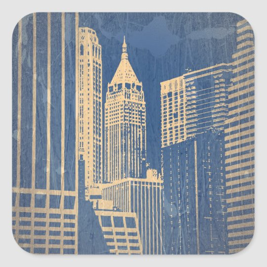 Manhattan Square Sticker