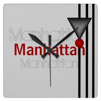 Manhattan Square Wall Clock