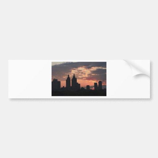 manhattan sunset bumper stickers