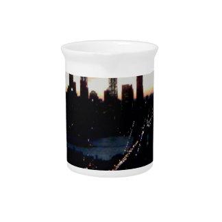 Manhattan Sunset Drink Pitcher