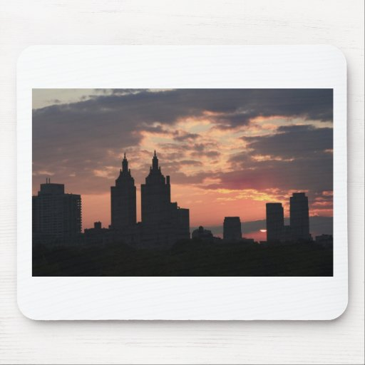 manhattan sunset mouse pad