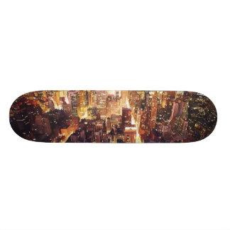 """""""Manhattan Tapestry"""" New York Skateboard"""