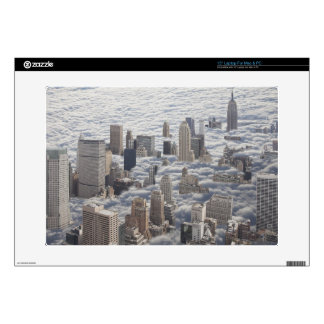 "Manhattan Under Cloudy Sky Skins For 15"" Laptops"