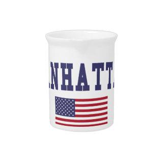 Manhattan US Flag Drink Pitcher