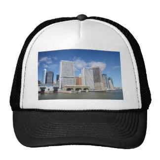 Manhattan viewed from the water trucker hats