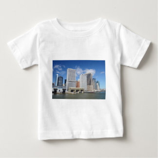 Manhattan viewed from the water. infant t-shirt