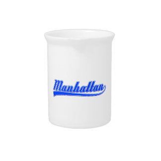 Manhattan With Swash Beverage Pitcher