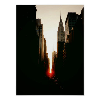 Manhattanhenge and Chrysler Building, Small Posters
