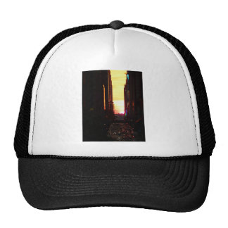 Manhattanhenge Sunset New York City Trucker Hat