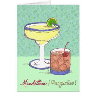 Manhattans & Margaritas | Customizable Card