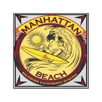 MANHATTEN BEACH CALIFORNIA SURFING CANVAS PRINT