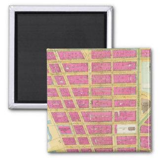 Manhatten, New York 11 2 Inch Square Magnet
