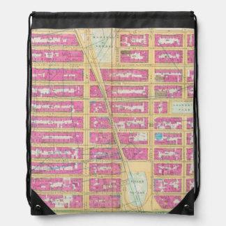 Manhatten, New York 12 Drawstring Bag