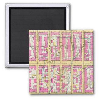 Manhatten, New York 14 2 Inch Square Magnet