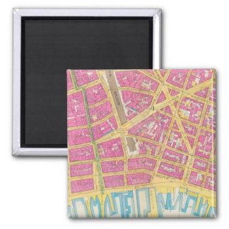 Manhatten, New York 21 2 Inch Square Magnet