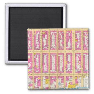 Manhatten, New York 24 2 Inch Square Magnet